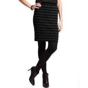 New ANN TAYLOR Striped Sweater Skirt Large Tall LT
